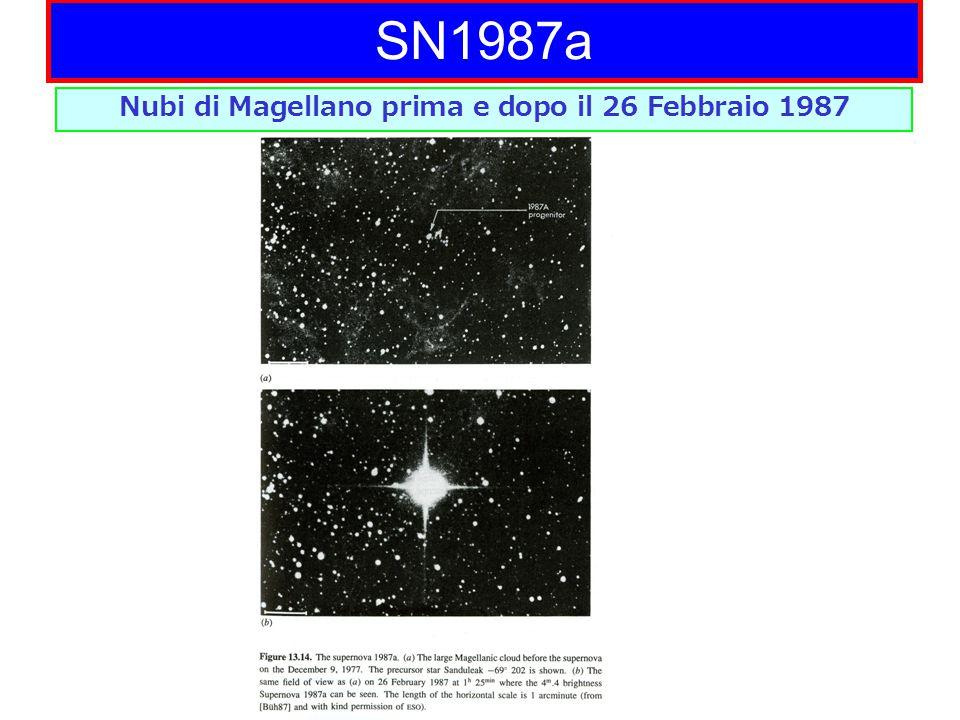 SN1987a Nubi di Magellano prima e dopo il 26 Febbraio 1987