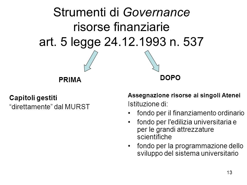 13 Strumenti di Governance risorse finanziarie art.