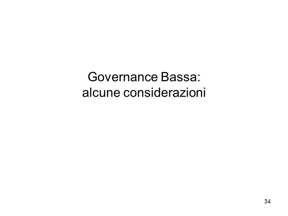 34 Governance Bassa: alcune considerazioni
