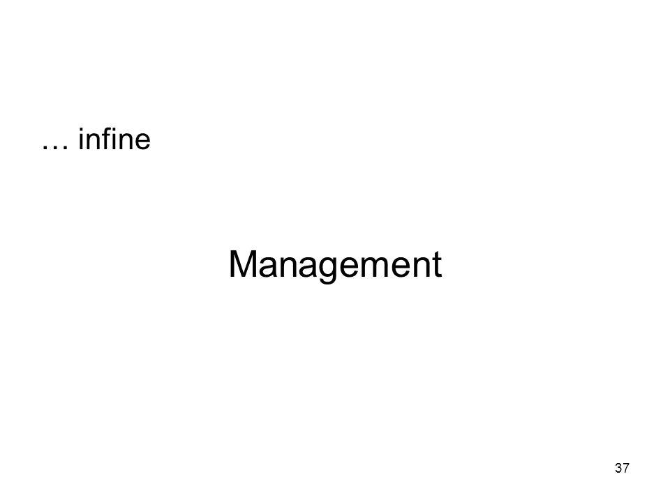 37 Management … infine