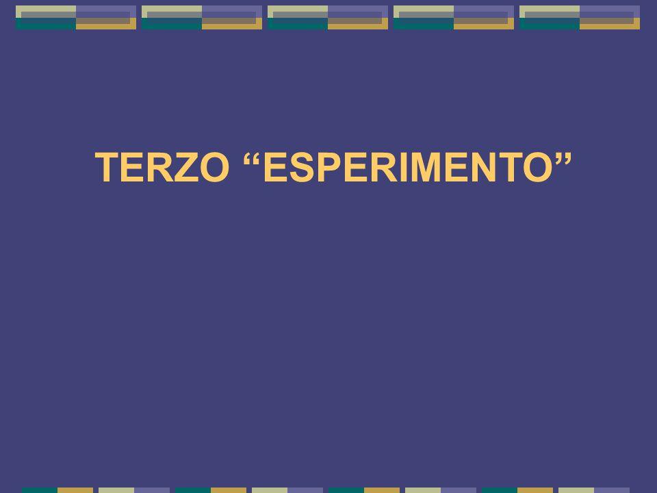 "TERZO ""ESPERIMENTO"""