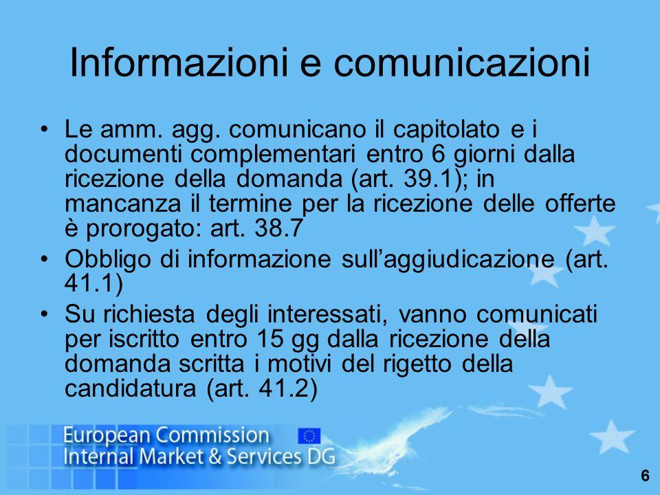6 Informazioni e comunicazioni Le amm. agg.