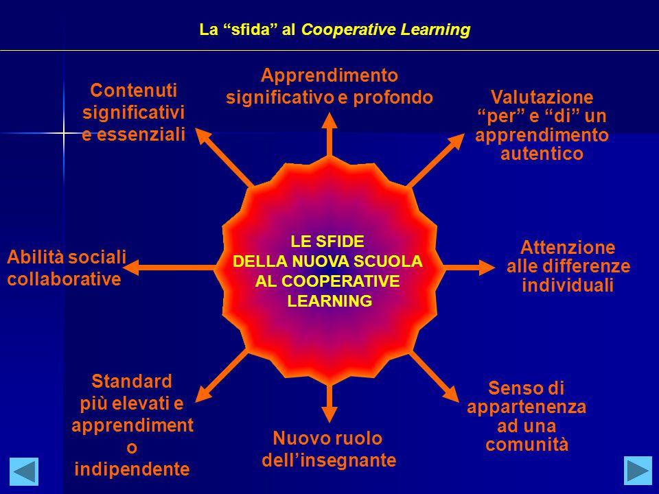 Contenuti significativi e essenziali Attenzione alle differenze individuali Senso di appartenenza ad una comunità Nuovo ruolo dell'insegnante Abilità