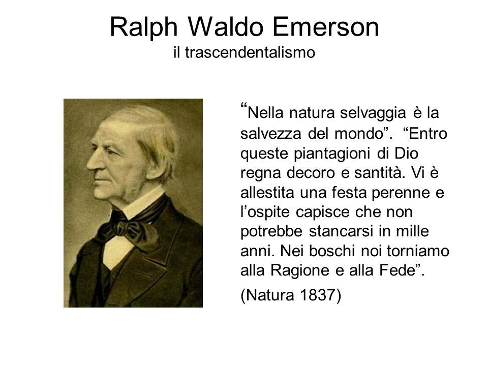 Ralph Waldo Emerson il trascendentalismo Nella natura selvaggia è la salvezza del mondo .