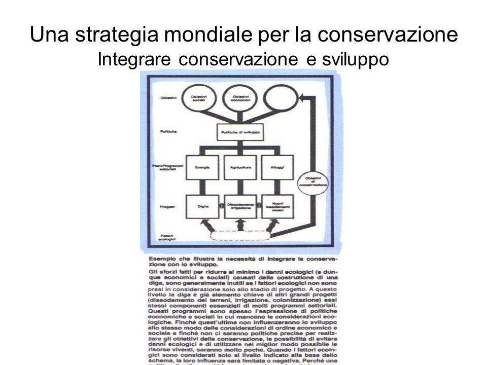 Una strategia mondiale per la conservazione Integrare conservazione e sviluppo