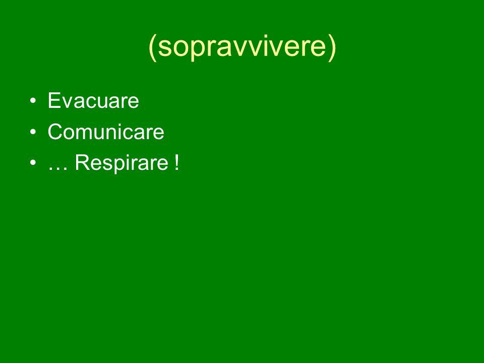 (sopravvivere) Evacuare Comunicare … Respirare !