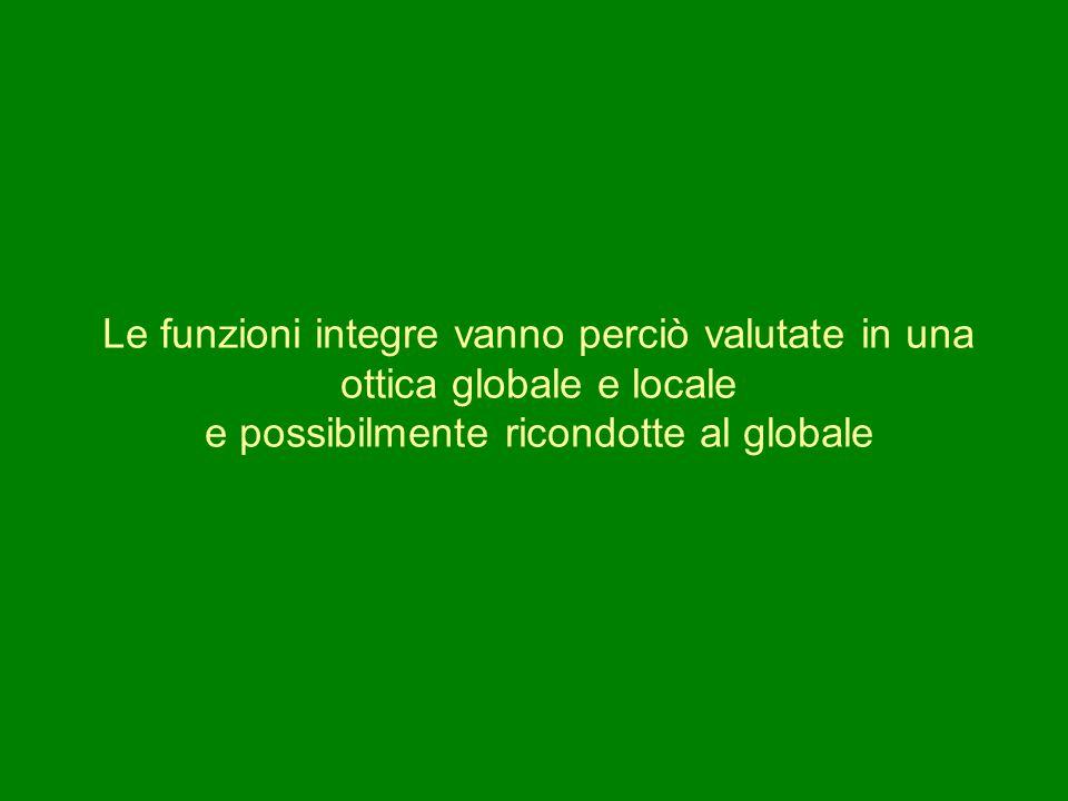Le funzioni integre vanno perciò valutate in una ottica globale e locale e possibilmente ricondotte al globale