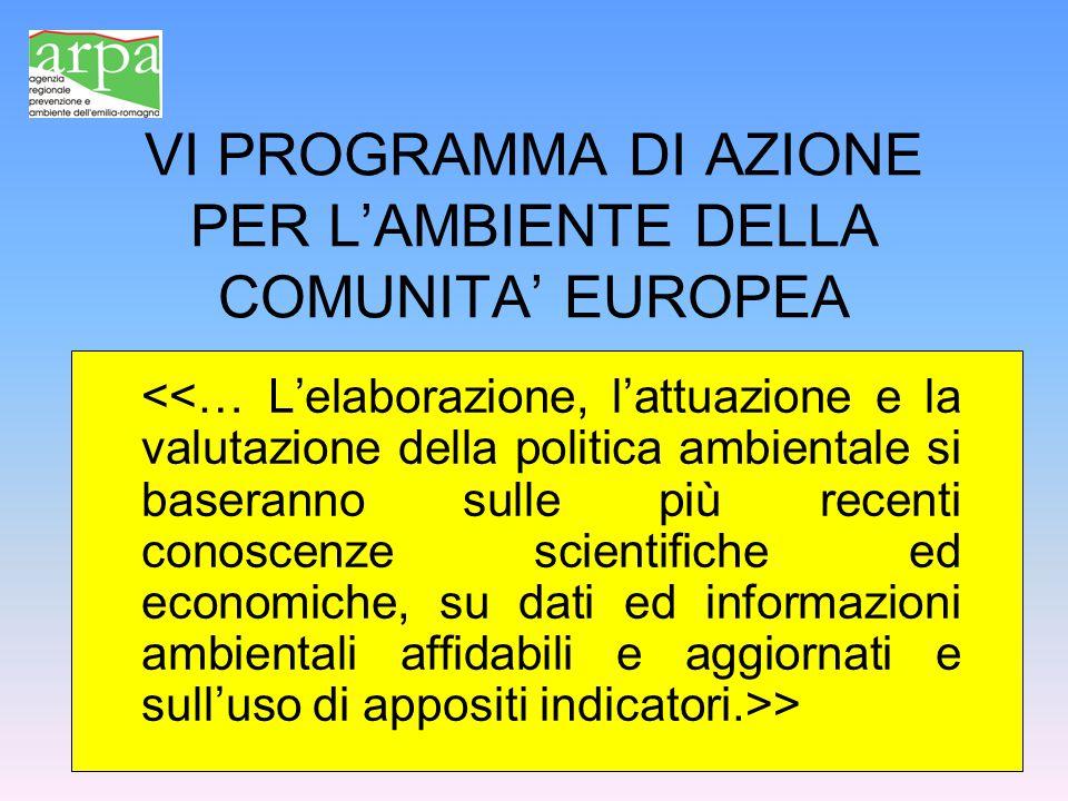 VI PROGRAMMA DI AZIONE PER L'AMBIENTE DELLA COMUNITA' EUROPEA >
