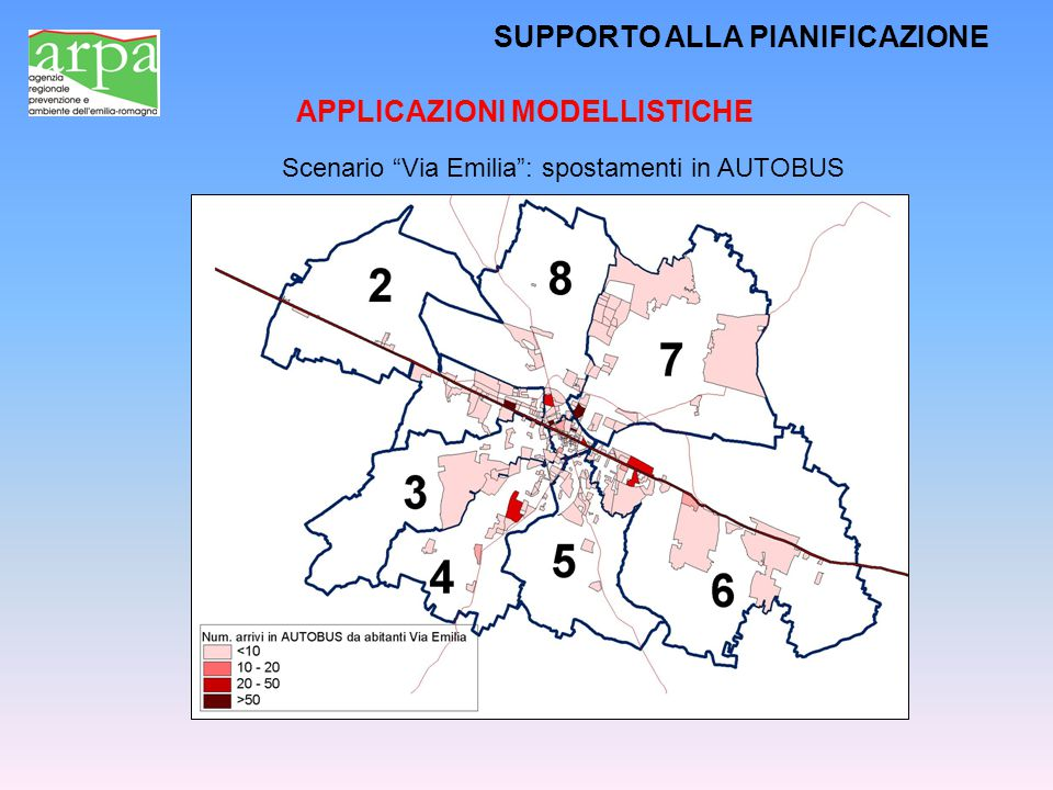 """SUPPORTO ALLA PIANIFICAZIONE APPLICAZIONI MODELLISTICHE Scenario """"Via Emilia"""": spostamenti in AUTOBUS"""