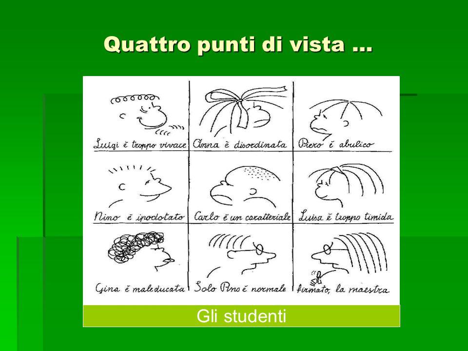 Quattro punti di vista … Gli studenti