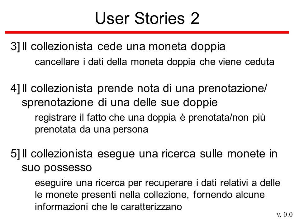 v. 0.0 User Stories 2 3]Il collezionista cede una moneta doppia cancellare i dati della moneta doppia che viene ceduta 4]Il collezionista prende nota