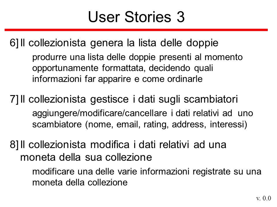 v. 0.0 User Stories 3 6]Il collezionista genera la lista delle doppie produrre una lista delle doppie presenti al momento opportunamente formattata, d