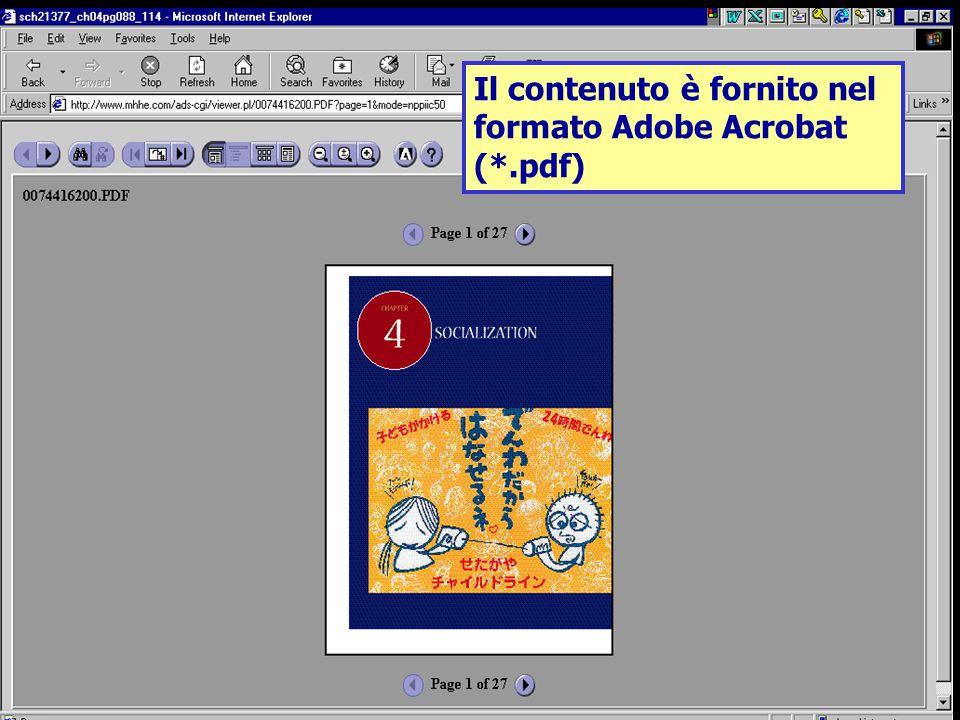 Il contenuto è fornito nel formato Adobe Acrobat (*.pdf)