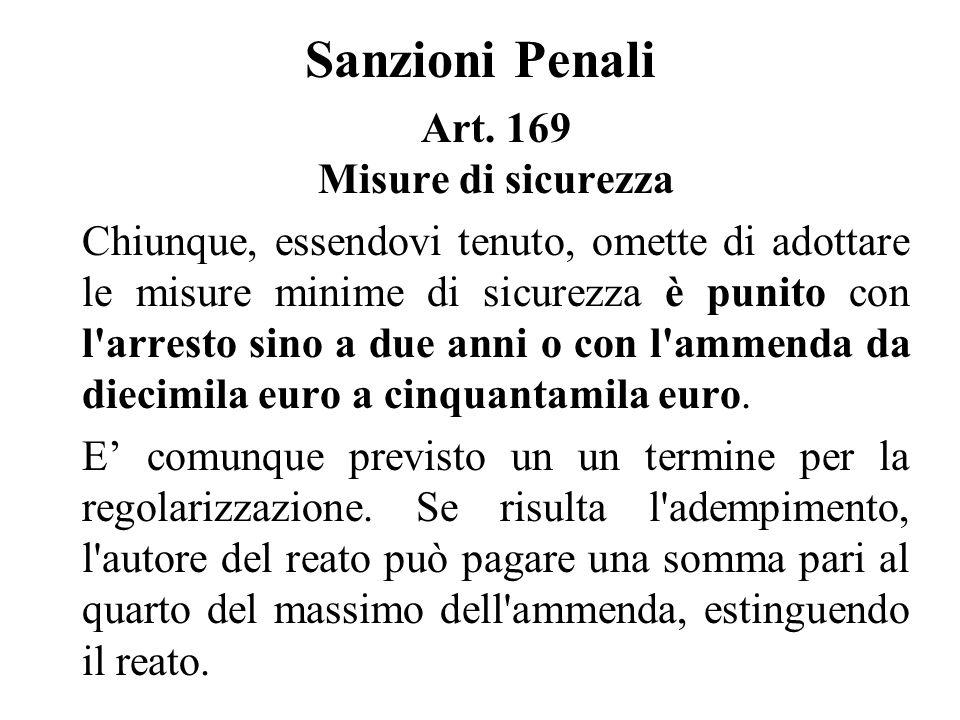 Sanzioni Penali Art.