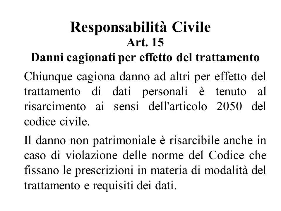 Responsabilità Civile Art.