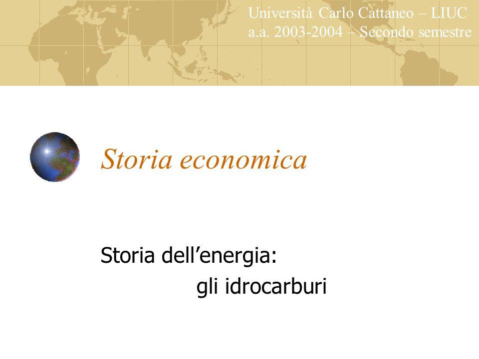 Storia economica a.a.2003-2004 Una commodity come le altre.