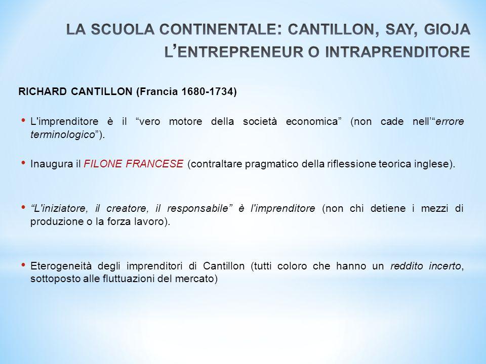 """RICHARD CANTILLON (Francia 1680-1734) L'imprenditore è il """"vero motore della società economica"""" (non cade nell'""""errore terminologico""""). Inaugura il FI"""