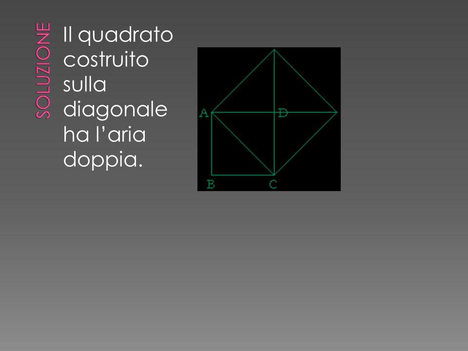 Il quadrato costruito sulla diagonale ha l'aria doppia.