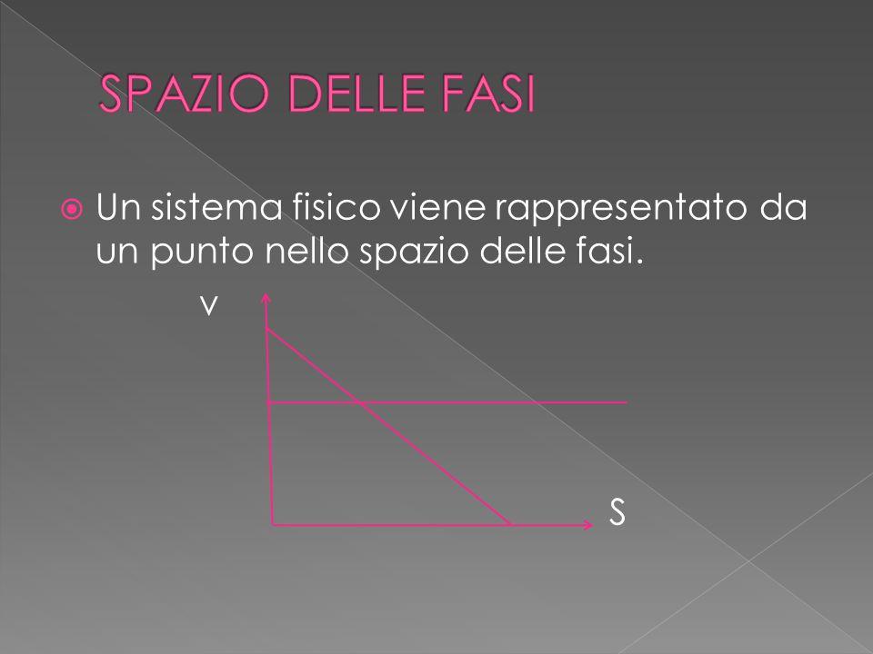  Un sistema fisico viene rappresentato da un punto nello spazio delle fasi. v S