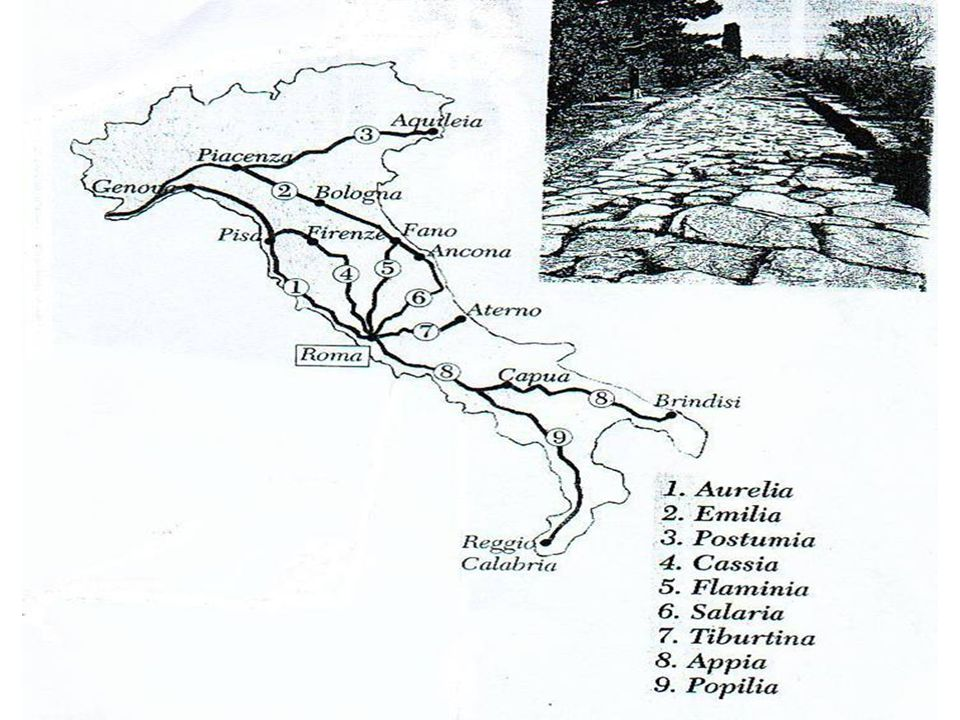 I Romani e la globalizzazione Attraverso una migliorata viabilità e un'amministrazione unificata era stato possibile attuare un'uniformità di costumi, di leggi, di lingua, di istituzioni su territori vastissimi.