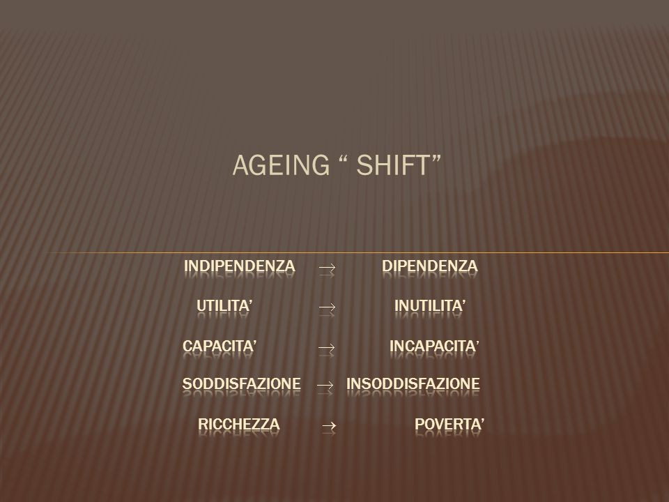 "AGEING "" SHIFT"""