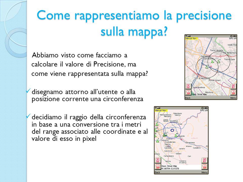 Come rappresentiamo la precisione sulla mappa.