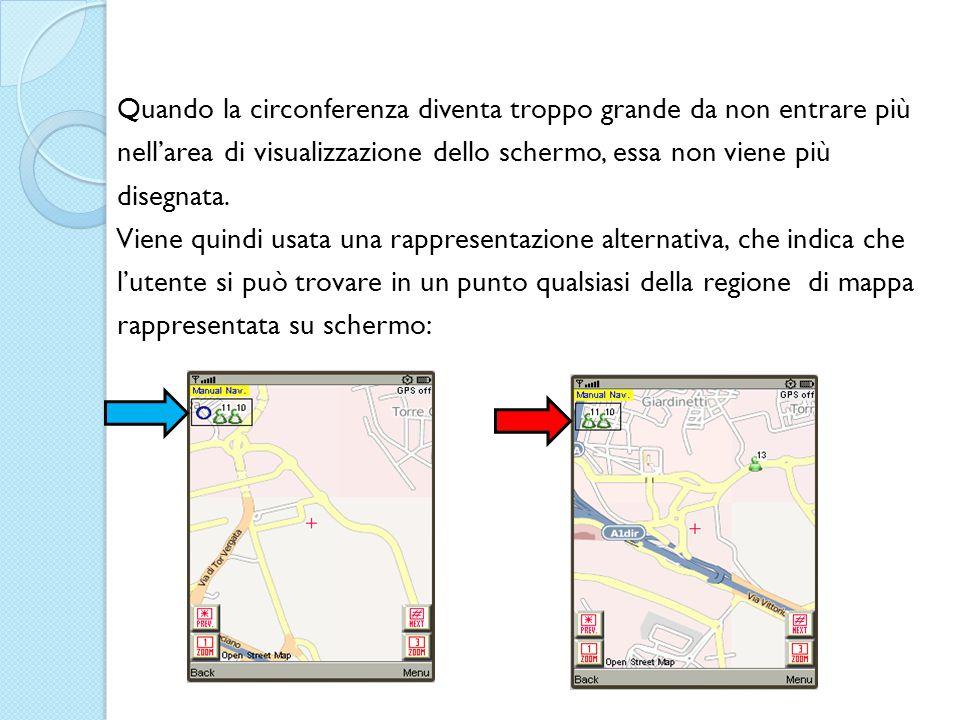Quando la circonferenza diventa troppo grande da non entrare più nell'area di visualizzazione dello schermo, essa non viene più disegnata.