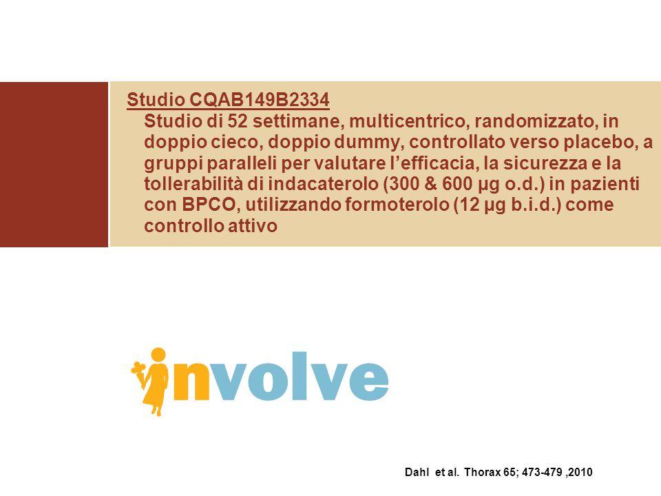 Studio CQAB149B2334 Studio di 52 settimane, multicentrico, randomizzato, in doppio cieco, doppio dummy, controllato verso placebo, a gruppi paralleli