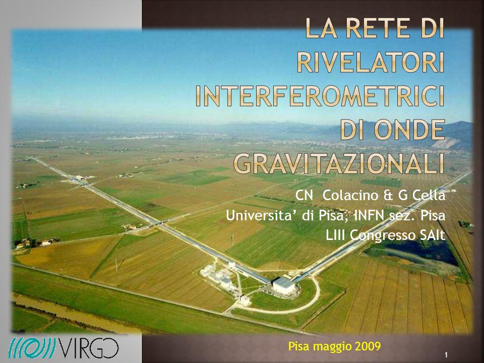 CN Colacino & G Cella Universita' di Pisa, INFN sez. Pisa LIII Congresso SAIt Pisa maggio 2009 1