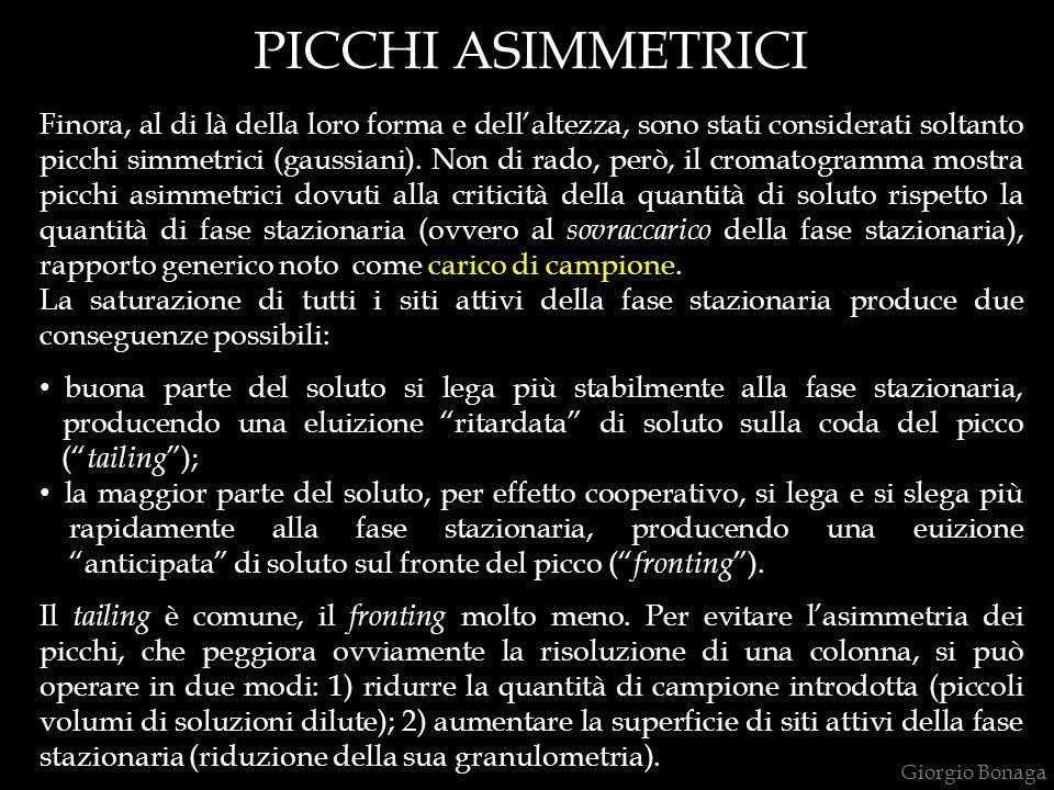 PICCHI ASIMMETRICI Finora, al di là della loro forma e dell'altezza, sono stati considerati soltanto picchi simmetrici (gaussiani). Non di rado, però,