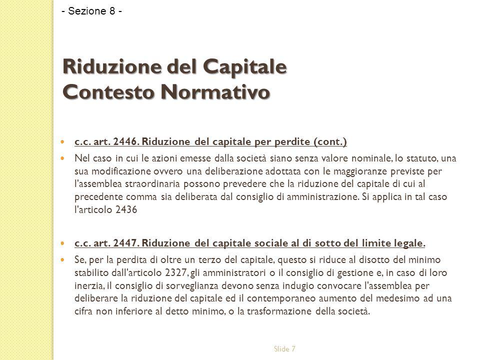 Slide 7 c.c. art. 2446.