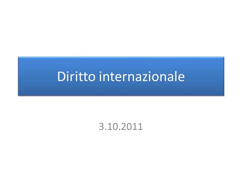Diritto internazionale 3.10.2011
