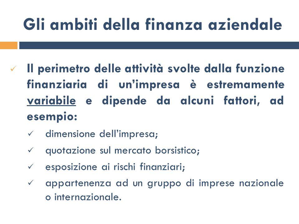 Decisioni di politica finanziaria Acquisizione di risorse Impiego di risorse FontiImpieghi Complessa gestione dei flussi finanziari che interessano l'impresa