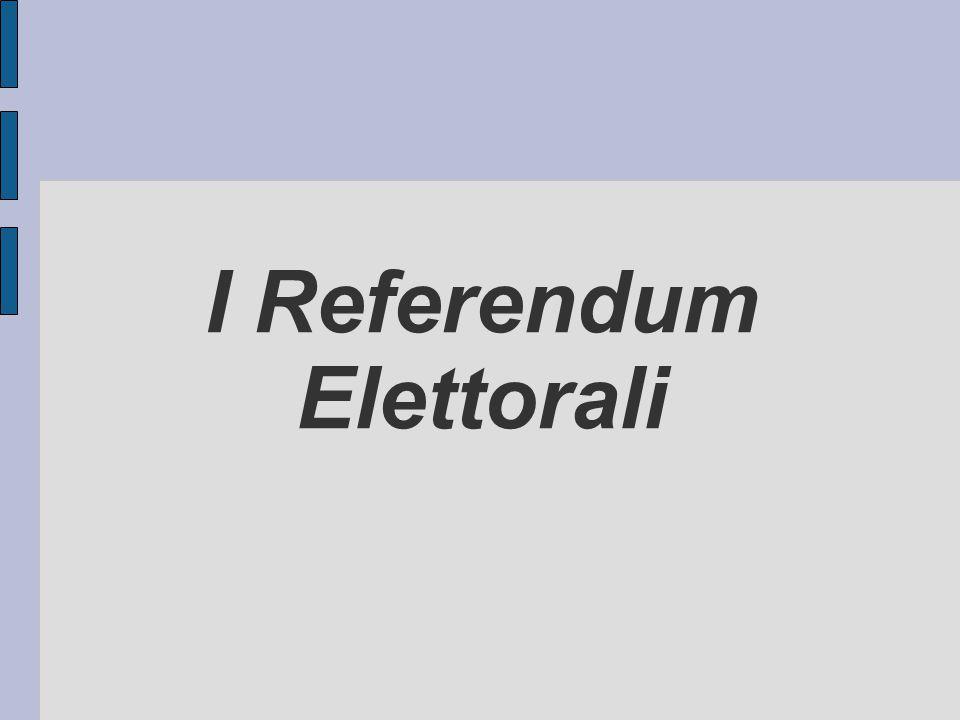 I Referendum Elettorali