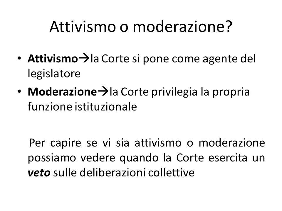 Attivismo o moderazione.