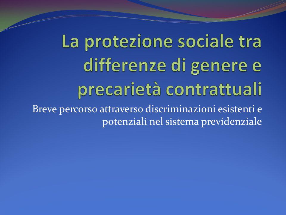 Breve percorso attraverso discriminazioni esistenti e potenziali nel sistema previdenziale