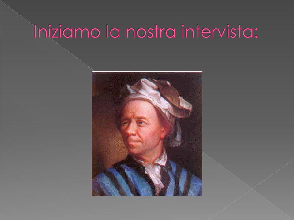 Buon giorno Maestro Eulero.