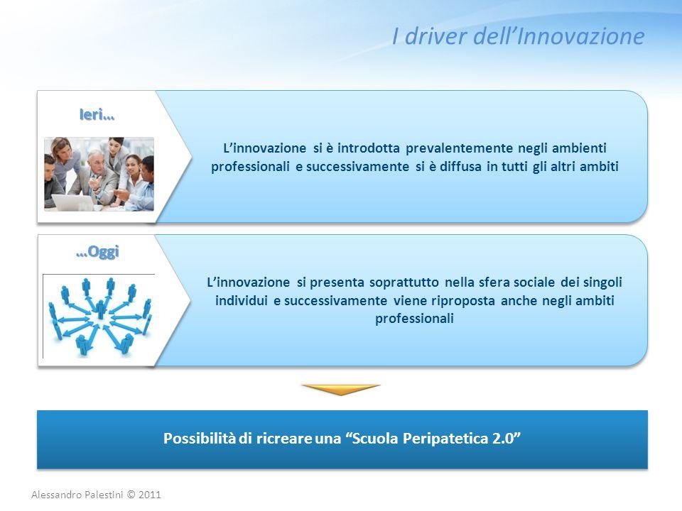 I driver dell'Innovazione L'innovazione si è introdotta prevalentemente negli ambienti professionali e successivamente si è diffusa in tutti gli altri