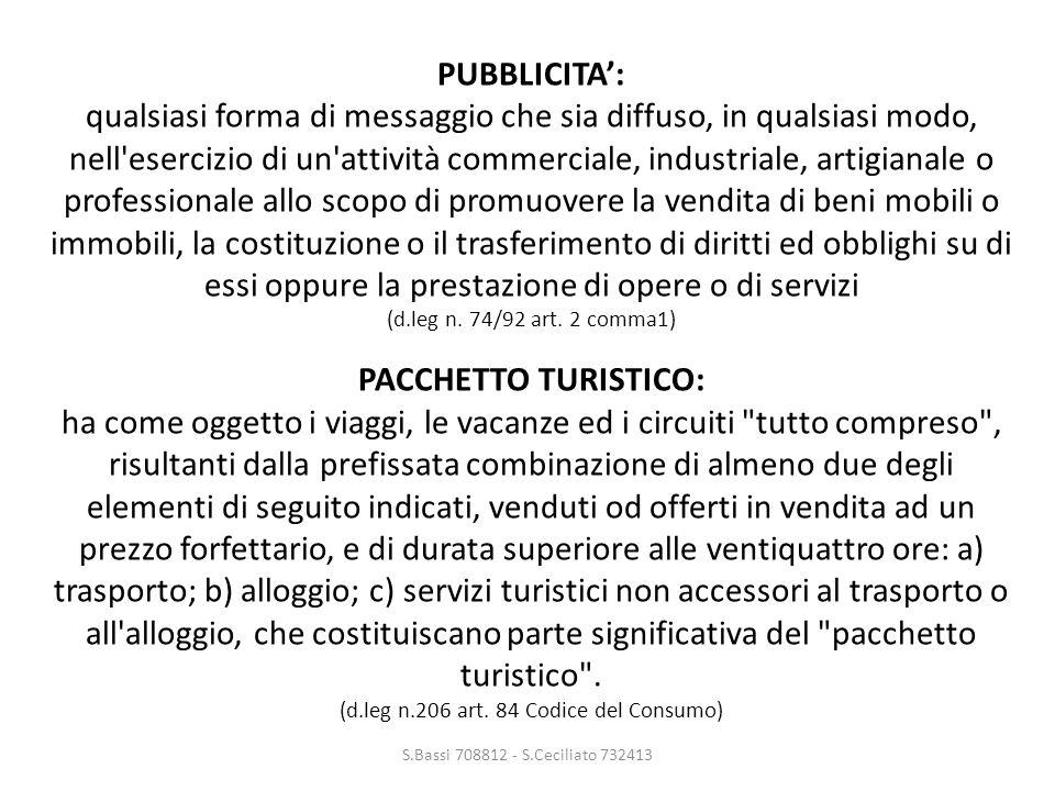 LE PARTI S.Bassi 708812 - S.Ceciliato 732413 TODOMONDO S.p.A.