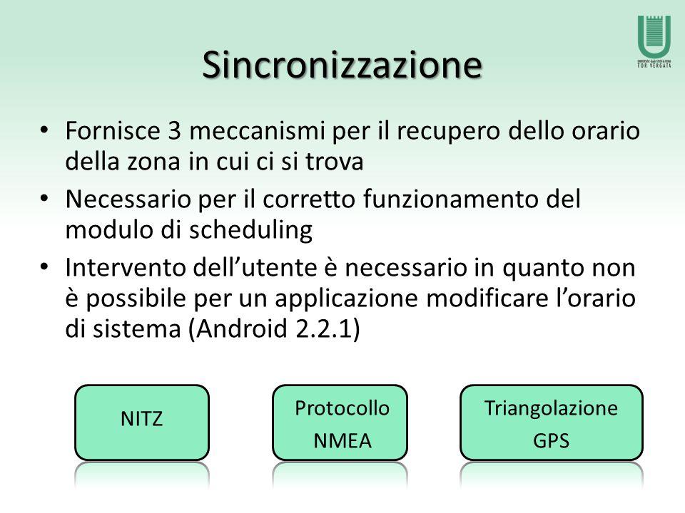 NITZ Network Identity and Time Zone È un opzione presente su tutti i sistemi Android In Italia viene supportata solo da Wind Marche: Motorola, Samsung, HTC, ecc.