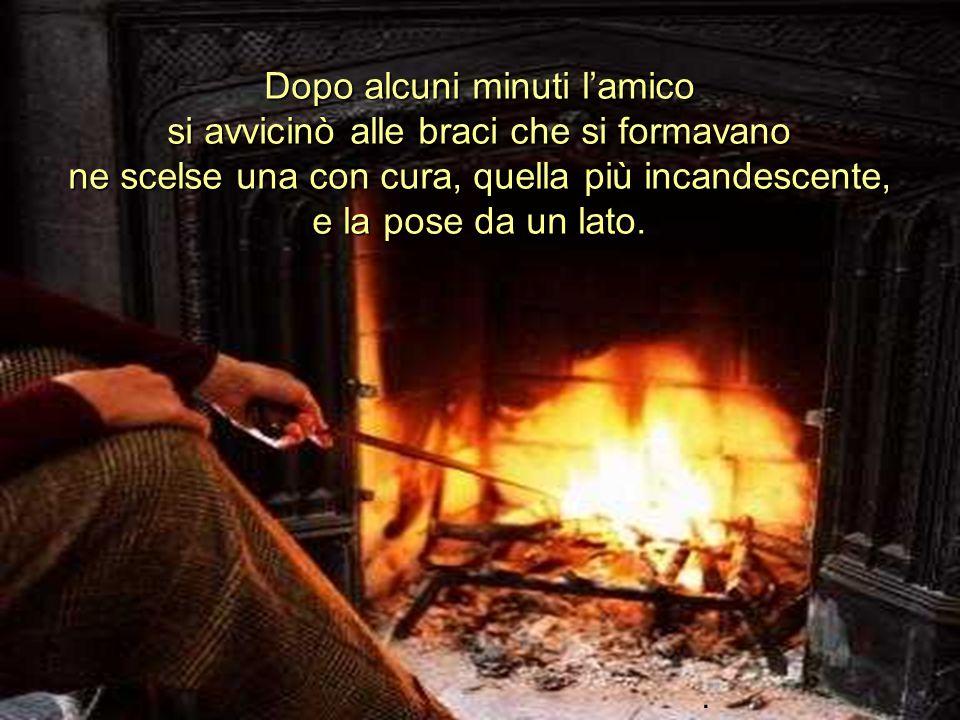 Ria Slides Si fece un grande silenzio. I due amici contemplavano unicamente la danza delle fiamme attorno ai ceppi di legno che bruciavano..