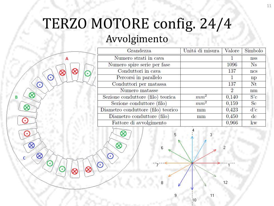 11 TERZO MOTORE config. 24/4 Avvolgimento