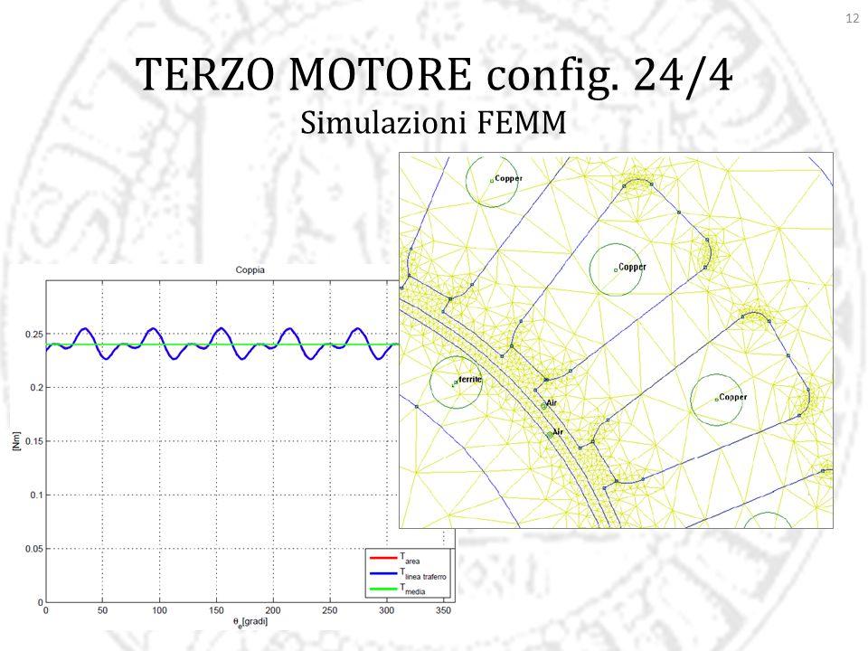12 TERZO MOTORE config. 24/4 Simulazioni FEMM