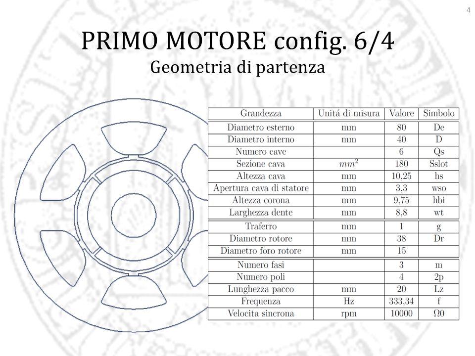 4 PRIMO MOTORE config. 6/4 Geometria di partenza