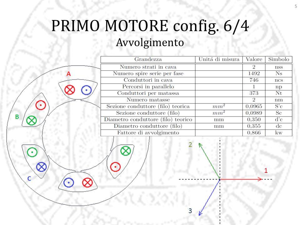 6 PRIMO MOTORE config. 6/4 Simulazioni FEMM