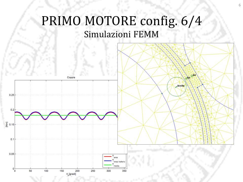 17 OTTIMIZZAZIONE Secondo Motore (12/4) Coppia sviluppata: 0,190 Nm  0,320 ± 0,050 Nm ± 0,080 Nm Riduco il peso di lamierino ferromagnetico, aumenta leggermente il peso del rame e del magnete.