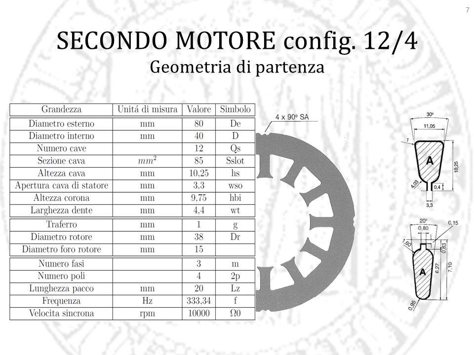 7 SECONDO MOTORE config. 12/4 Geometria di partenza