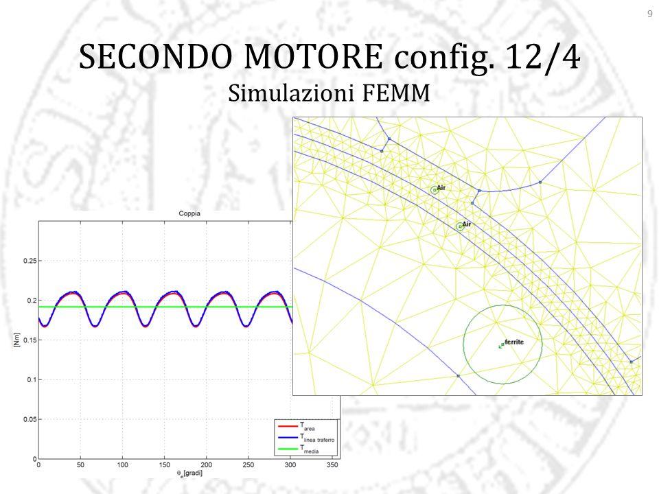 9 SECONDO MOTORE config. 12/4 Simulazioni FEMM