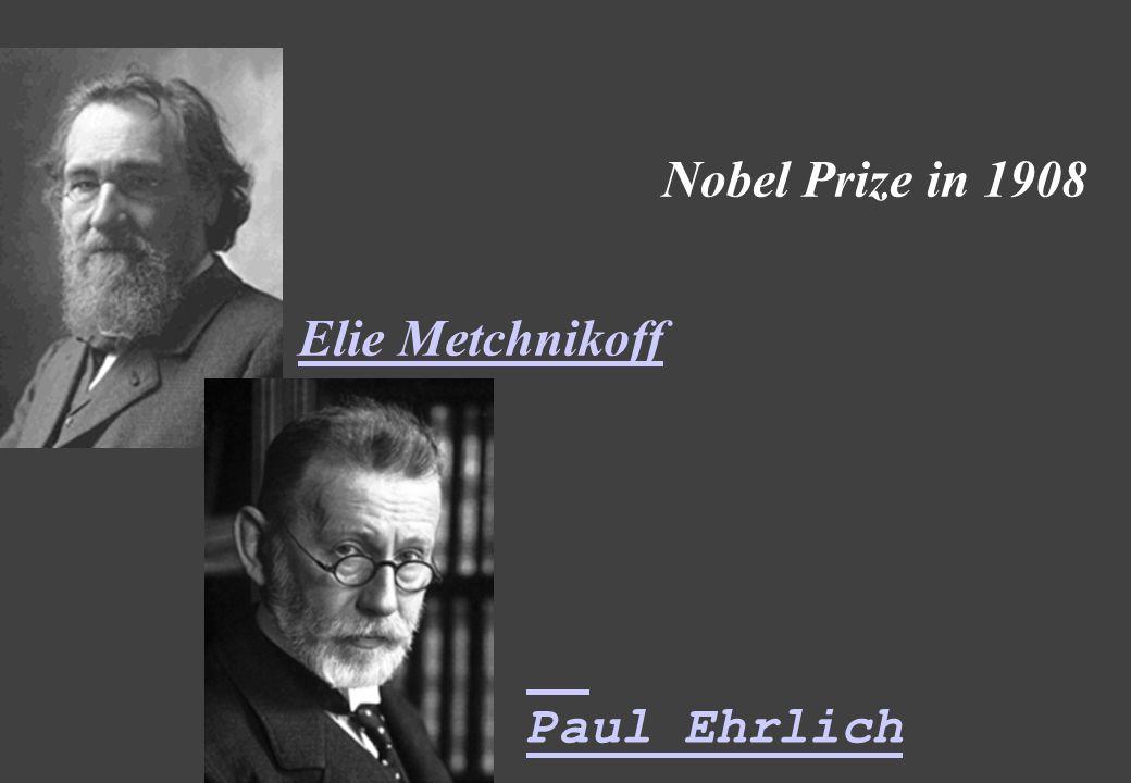 Elie Metchnikoff Paul Ehrlich Nobel Prize in 1908