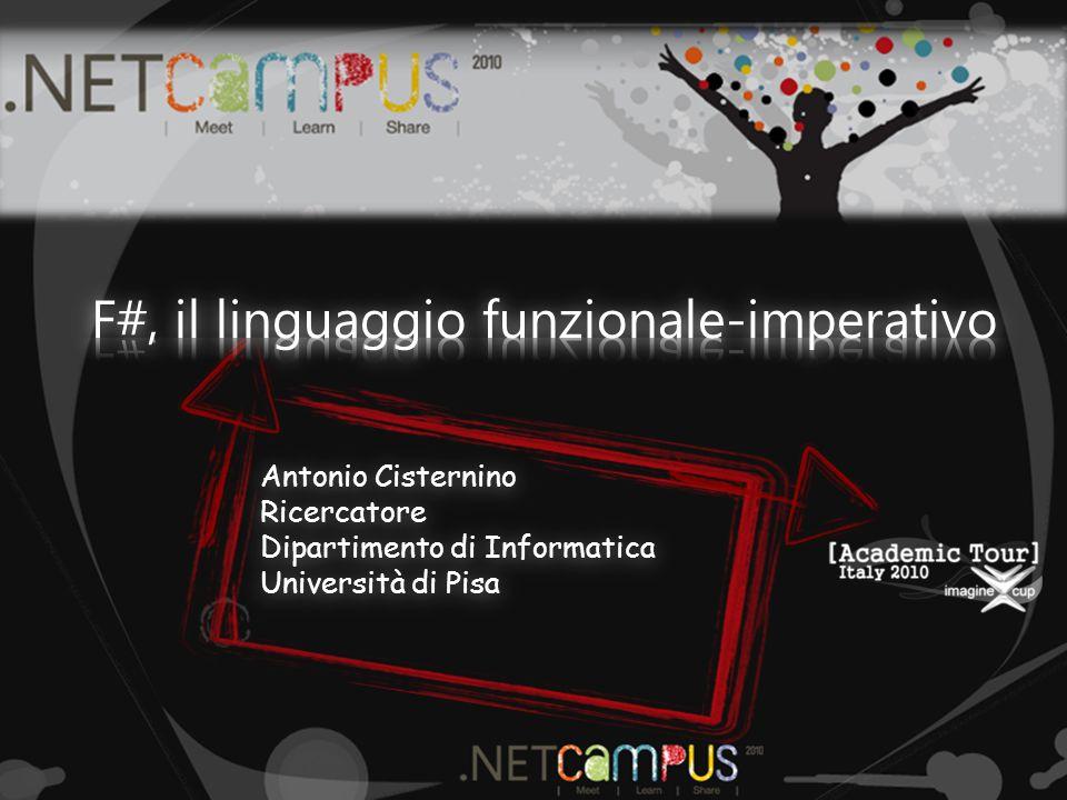 Antonio Cisternino Ricercatore Dipartimento di Informatica Università di Pisa
